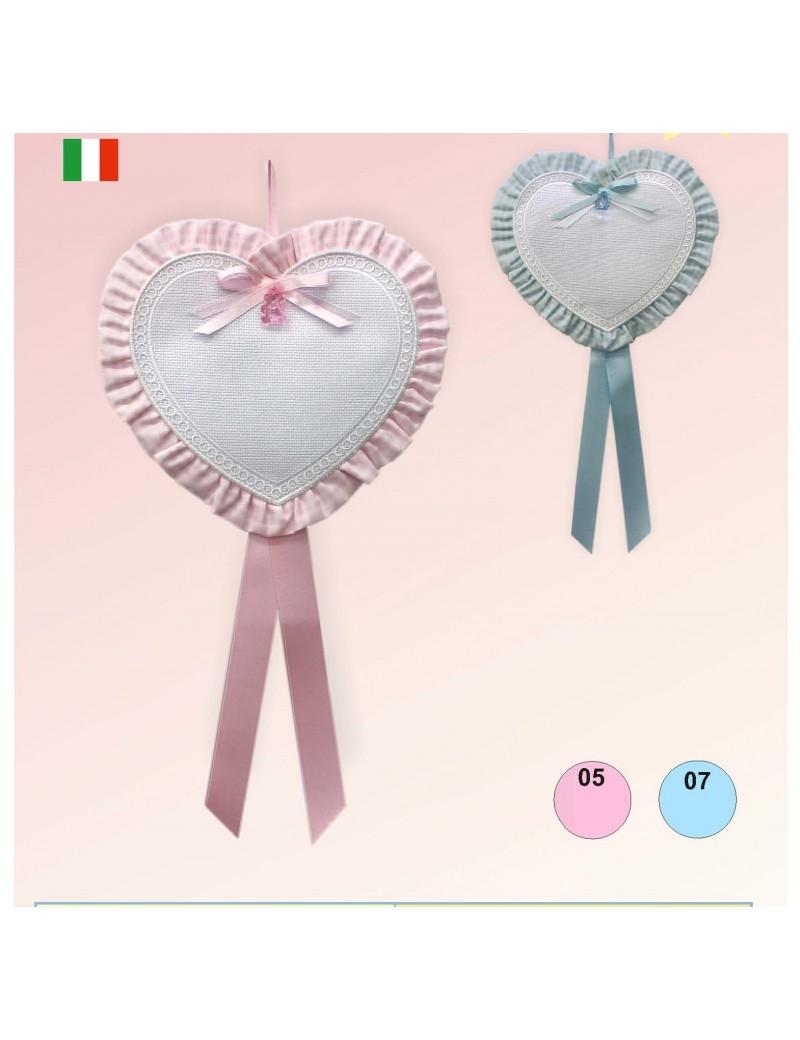 """Coccarda fiocco nascita /""""la Coccinella/"""" Made in Italy in 2 colori"""