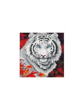 WHITE TIGER IN AUTUMN TIGRE...
