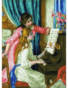 GIRL'S AT THE PIANO RAGAZZA...